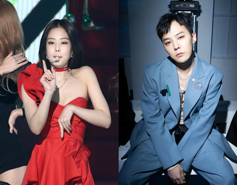 BIGBANG's G-Dragon (right) and Blackpink's Jennie have reportedly been dating in secret for a year. (Photos: Getty Images)