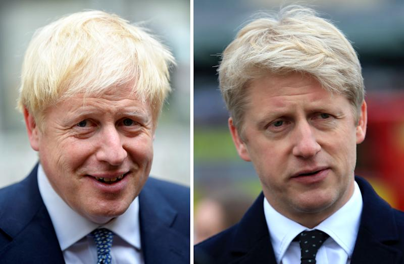 """Undated file photos of Prime Minister Boris Johnson (left) and his brother Jo Johnson who has announced he is quitting politics, saying: """"In recent weeks I've been torn between family loyalty and the national interest - it's an unresolvable tension and time for others to take on my roles as MP and Minister."""""""