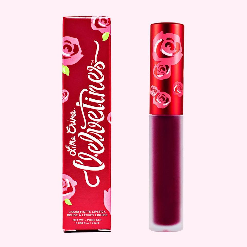 """<p>Lime Crime will be giving away free gifts with purchases. On Black Friday, you can get a Hot Stuff Brush Set with every order over $20. Then on Cyber Monday, Lime Crime will throw in a Beet It Velvetine with all orders — gratis. On top of that, the brand will be offering a 25% off discount site-wide from November 23 to 26. As they say, you can never have too many lipsticks.</p><br><br><strong>Lime Crime</strong> Beet It Matte Velvetine, $20, available at <a href=""""https://www.limecrime.com/products/beet-it#locklink"""" rel=""""nofollow noopener"""" target=""""_blank"""" data-ylk=""""slk:Lime Crime"""" class=""""link rapid-noclick-resp"""">Lime Crime</a>"""