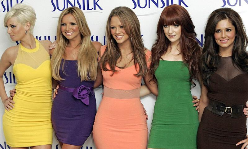 Girls Aloud launch a multi million pound sponsorship deal with Sunsilk in London.Picture: UK Press