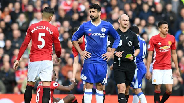 Marcos Rojo - Diego Costa | Manchester United - Chelsea 16042017
