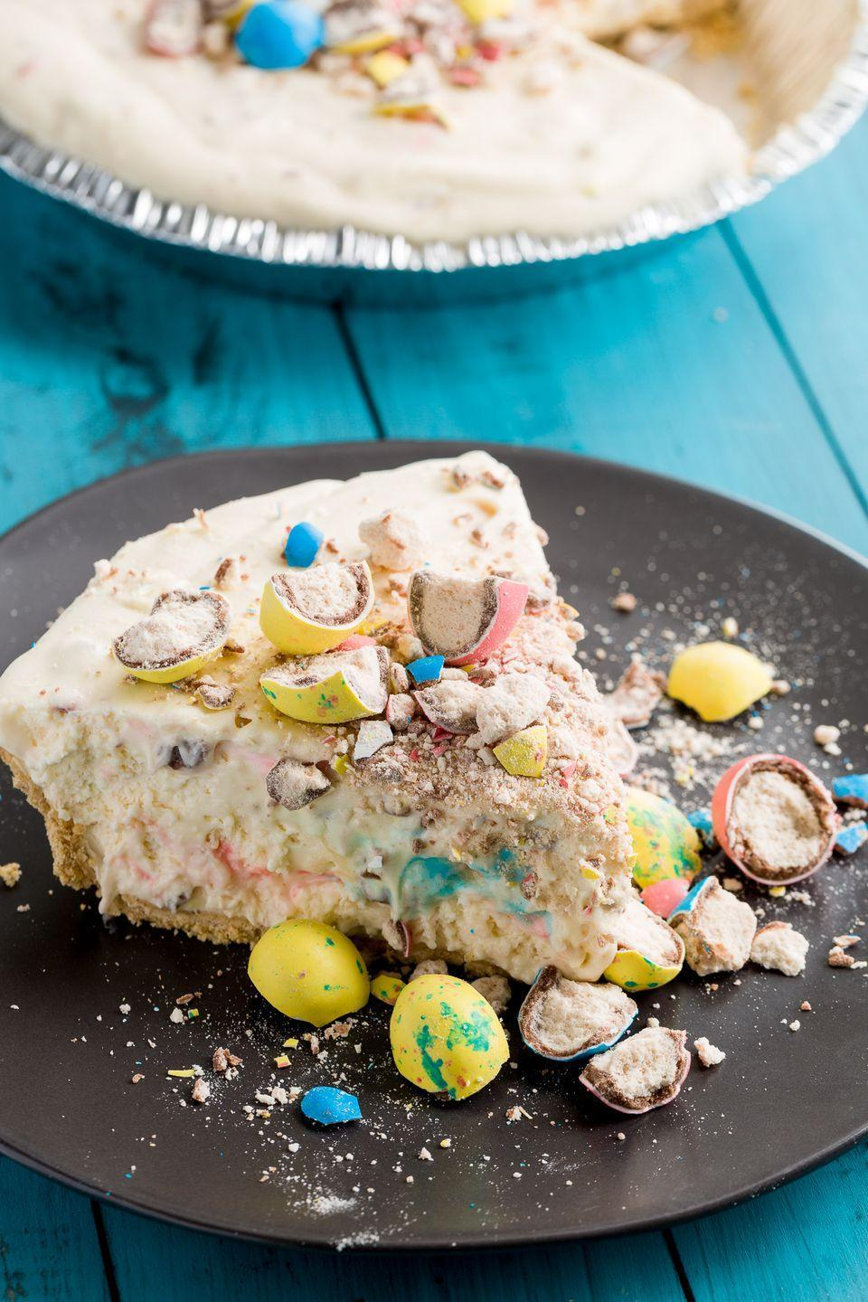 """<p>'Tis the season for Robin's Eggs, and this no-bake cheesecake is the perfect way to celebrate.</p><p>Get the recipe from <a href=""""https://www.delish.com/cooking/recipe-ideas/recipes/a46481/robins-egg-no-bake-cheesecake-recipe/"""" rel=""""nofollow noopener"""" target=""""_blank"""" data-ylk=""""slk:Delish"""" class=""""link rapid-noclick-resp"""">Delish</a>. </p>"""