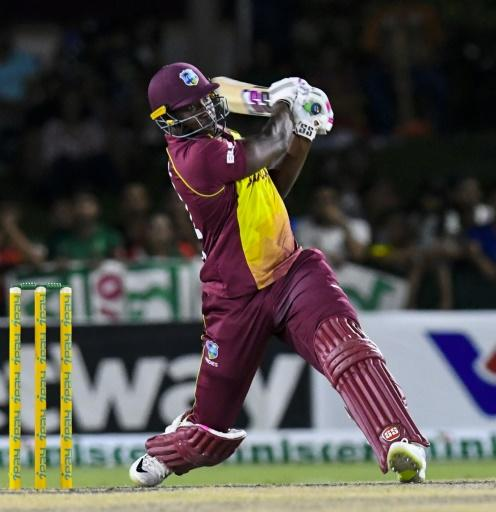 Andre Russell smashed 47 off just 21 deliveries with six towering sixes and one four to keep the West Indies in with a chance against Bangladesh