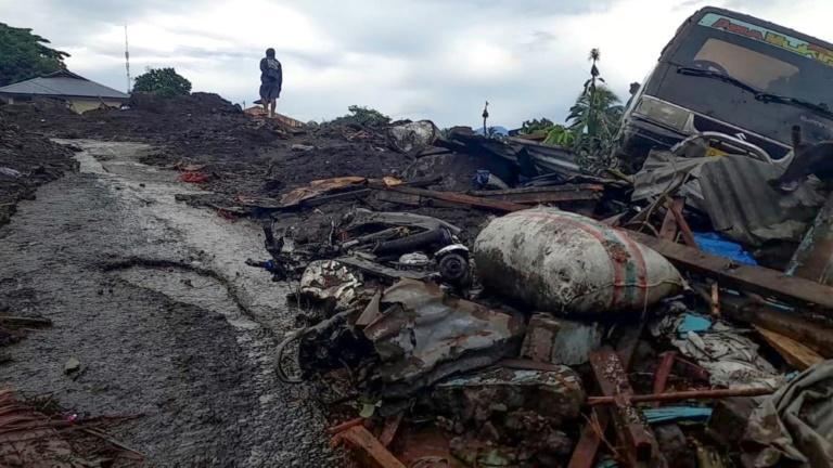 Torrential rains from Tropical Cyclone Seroja, one of the most destructive storms to hit the region in years, turned small communities into wastelands of mud and uprooted trees
