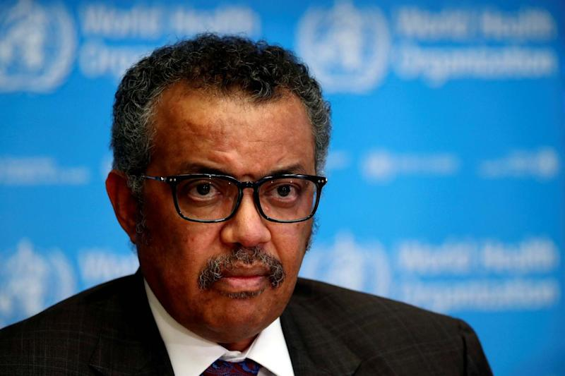 Director-General of the World Health Organization (WHO) Tedros Adhanom Ghebreyesus: REUTERS