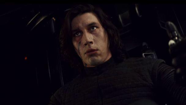 PHOTO: Adam Driver, as Kylo Ren, in a scene from 'Star Wars: The Last Jedi' official trailer. (Star Wars/YouTube)