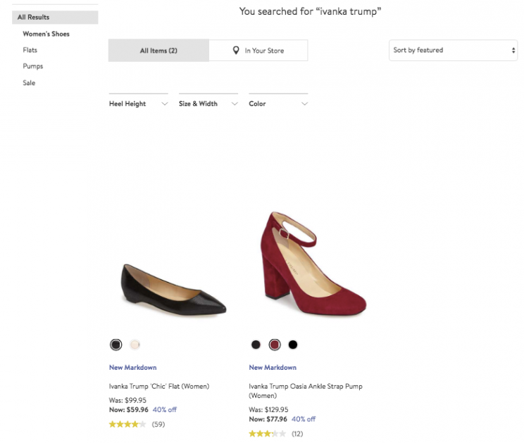 """Search results for """"Ivanka Trump"""" products on nordstrom.com"""