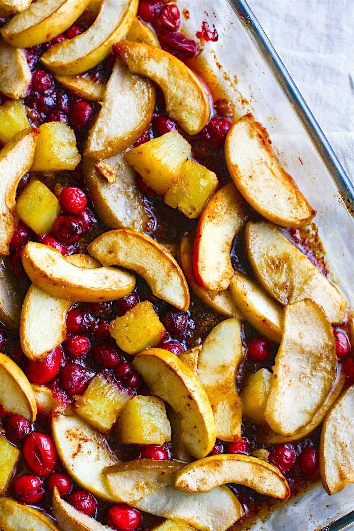 "<p>This Southern spiced fruit bake is healthier than traditional versions, but no less delicious.<br></p><p><strong>Get the recipe at <a href=""http://www.cottercrunch.com/gluten-free-spiced-hot-fruit-bake/"" rel=""nofollow noopener"" target=""_blank"" data-ylk=""slk:Cotter Crunch"" class=""link rapid-noclick-resp"">Cotter Crunch</a></strong><strong>.</strong><br></p>"