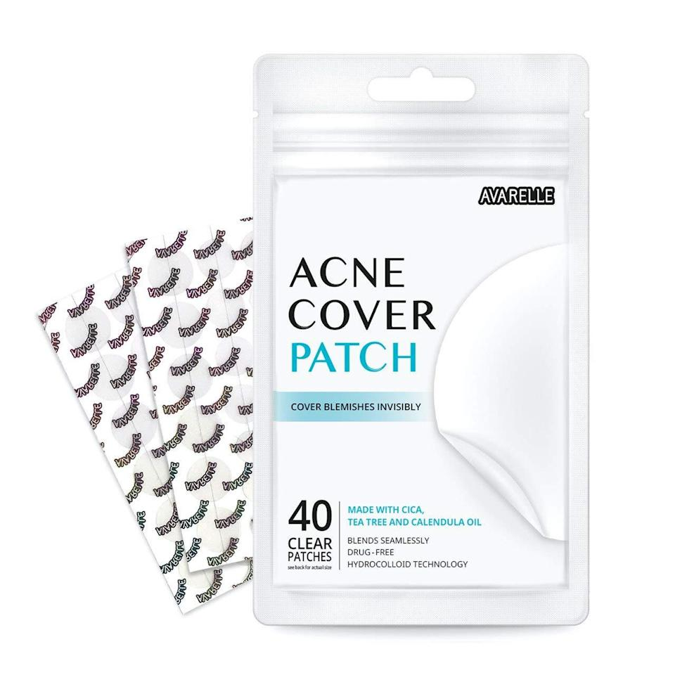 """<a href=""""https://www.glamour.com/gallery/best-acne-patches?mbid=synd_yahoo_rss"""" rel=""""nofollow noopener"""" target=""""_blank"""" data-ylk=""""slk:Pimple patches"""" class=""""link rapid-noclick-resp"""">Pimple patches</a> have quickly become one of our beauty kit staples this year, since they're the ideal thing to have on hand for stress-induced and mask-induced breakouts alike. Amazon's topsellers are no-frills but effective, and get the job done at a bargain price. The hydrocolloid material forms a solid seal over acne, preventing you from picking while also sucking out gunk overnight. They're best for pimples that have come to a head (identifiable by the white spot in the center). Pick up a couple packs to treat surprise breakouts without drying out your skin. $6, Amazon. <a href=""""https://www.amazon.com/Avarelle-Cover-Patch-Hydrocolloid-Calendula/dp/B075QNC39Q/"""" rel=""""nofollow noopener"""" target=""""_blank"""" data-ylk=""""slk:Get it now!"""" class=""""link rapid-noclick-resp"""">Get it now!</a>"""