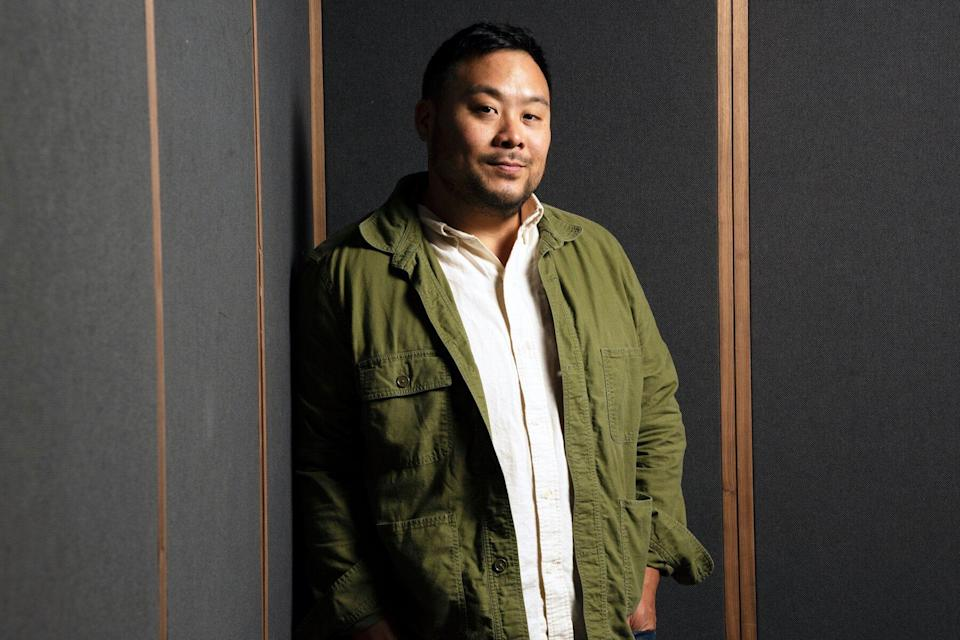 David Chang photographed at his restaurant Ko in New York, New York on August 26,2019