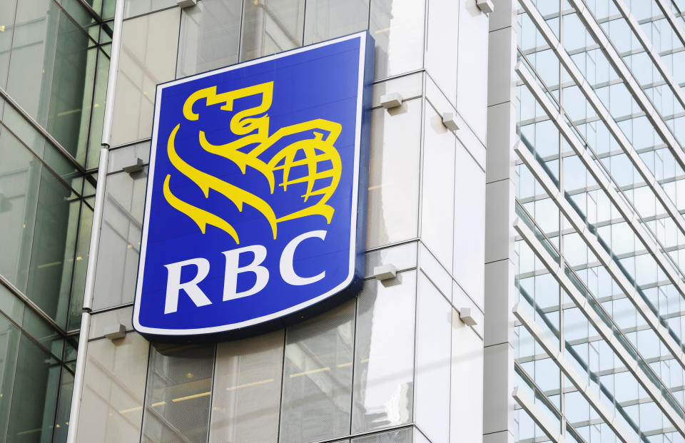 A Royal Bank of Canada (RBC) sign is seen in downtown Toronto March 3, 2011.  Royal Bank of Canada (RY.TO: Quote) said on Thursday that quarterly earnings rose 23 percent, driven by retail loan growth and lower provisions for bad loans  REUTERS/Mark Blinch (CANADA - Tags: BUSINESS)
