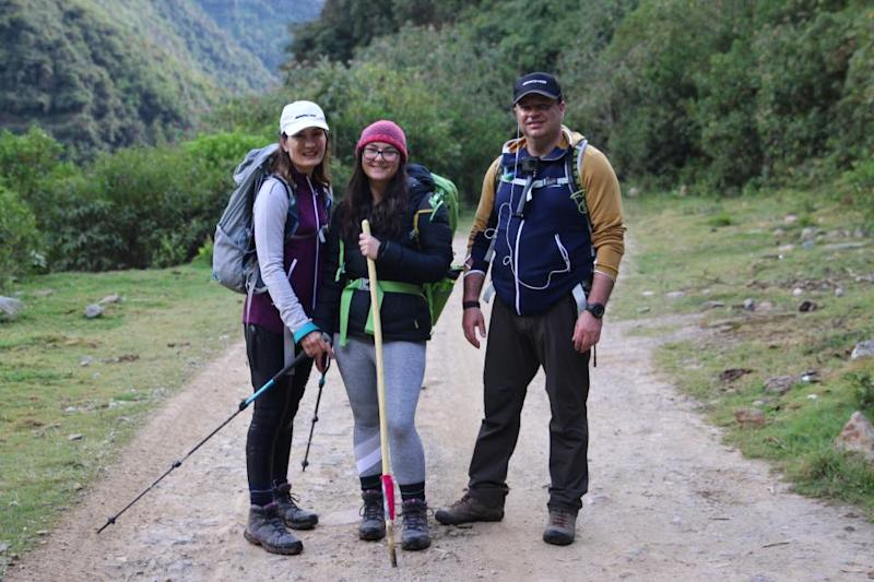 Stephen and his family on holiday in Peru. Image: Supplied