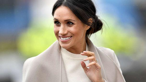 PHOTO: Meghan Markle is seen ahead of her visit with Prince Harry to the iconic Titanic Belfast during their trip to Northern Ireland on March 23, 2018 in Belfast, Northern Ireland. (Charles McQuillan/Getty Images)