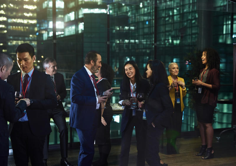 Going into networking events can be daunting – but it doesn't have to be if you have a game plan. (Source: Getty)