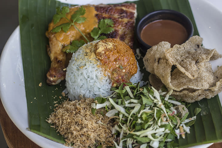 The 'ayam percik' set for RM18 is a complete meal for a solo eater