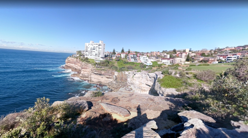 A picture of Diamond Bay at Vaucluse from Google street view.