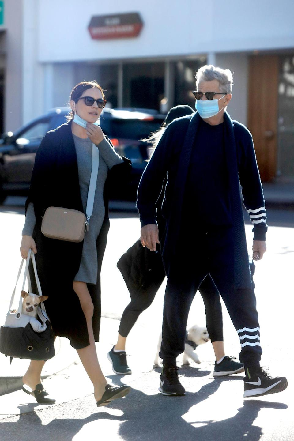 <p>Parents-to-be Katharine McPhee and David Foster were seen walking to lunch at the Ivy in West Hollywood, California.</p>