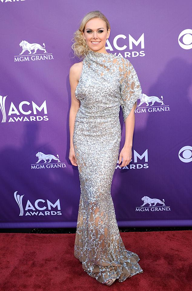 "<p class=""MsoNormal"">Country singer Laura Bell Bundy, who's set to release an album this spring, flaunted an asymmetrical silver gown that made her look a little bit like a piece of tin foil, if you ask us. Do you think it's hot ... or not?</p>"