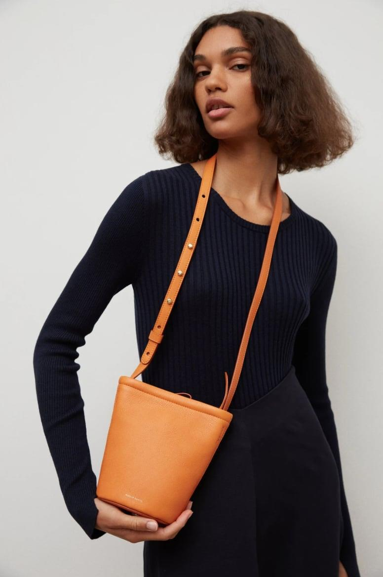<p>This <span>Mansur Gavriel Mini Zip Bucket Bag</span> ($465) comes in so many cute colors, but we love the vibrant orange shade.</p>