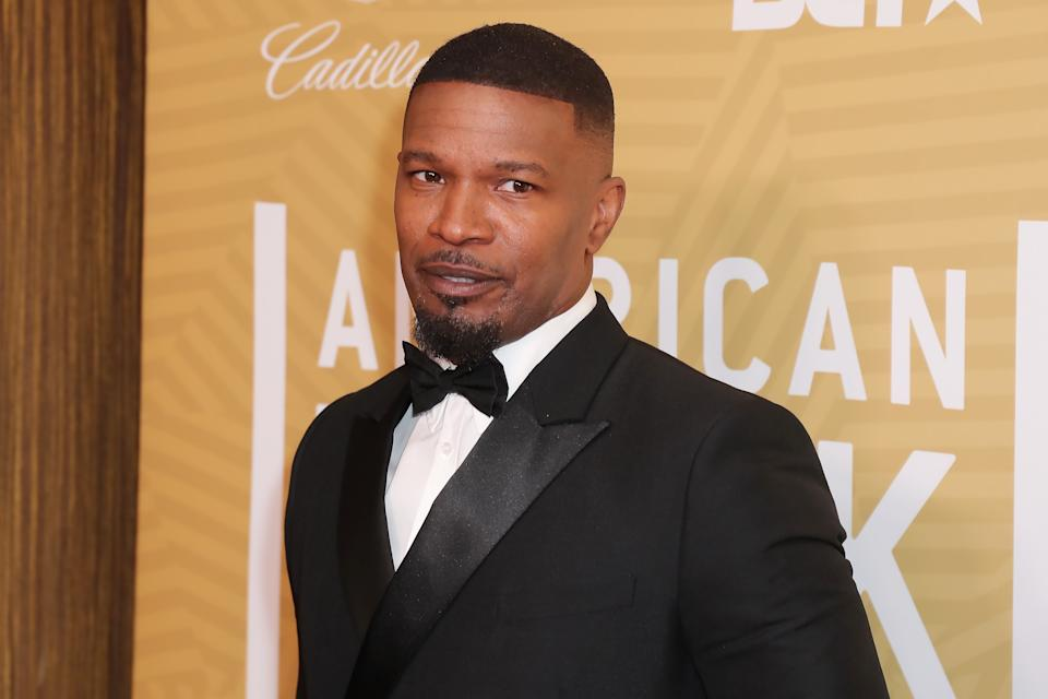 BEVERLY HILLS, CALIFORNIA - FEBRUARY 23: Jamie Foxx attends American Black Film Festival Honors Awards Ceremony at The Beverly Hilton Hotel on February 23, 2020 in Beverly Hills, California. (Photo by Leon Bennett/WireImage)