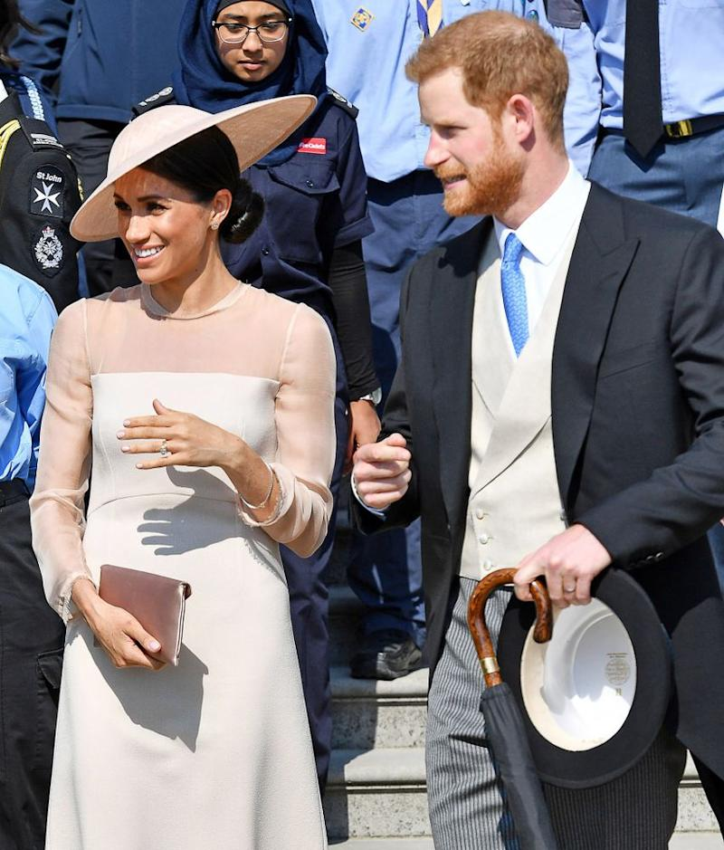 Meghan and Harry at Buckingham Palace on May 22.