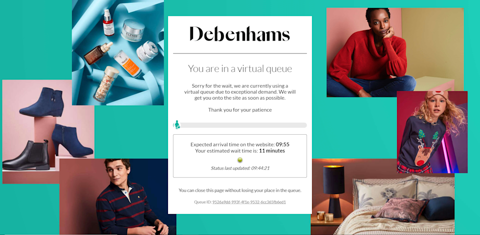 The Debenhams chain is offering discounts after announcing it will be closing (Debenhams)