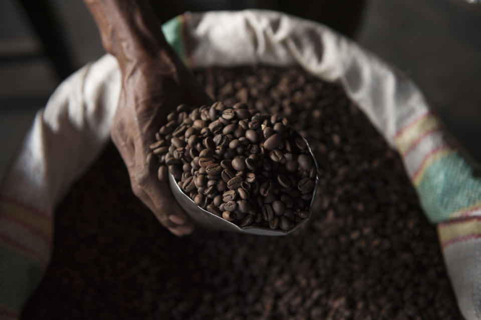 Arabica coffee beans, which make up 60% of global coffee production (Jürgen Freund/WWF/PA)