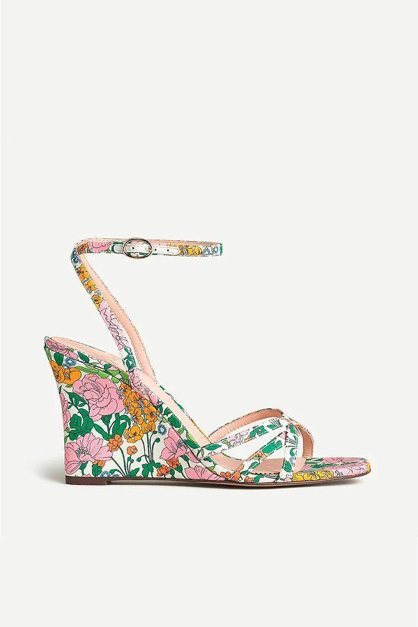 """<p><strong>J.Crew</strong></p><p>jcrew.com</p><p><strong>$178.00</strong></p><p><a href=""""https://go.redirectingat.com?id=74968X1596630&url=https%3A%2F%2Fwww.jcrew.com%2Fp%2FAV970&sref=https%3A%2F%2Fwww.oprahdaily.com%2Fstyle%2Fg36055944%2Fmost-comfortable-wedges%2F"""" rel=""""nofollow noopener"""" target=""""_blank"""" data-ylk=""""slk:SHOP NOW"""" class=""""link rapid-noclick-resp"""">SHOP NOW</a></p><p>Whether you need something dressy to go with a wedding dress or you just want a new pair of shoes to liven up your summer wardrobe, this printed style will do the trick. The slimmer profile is a great option if you prefer something less chunky. </p>"""