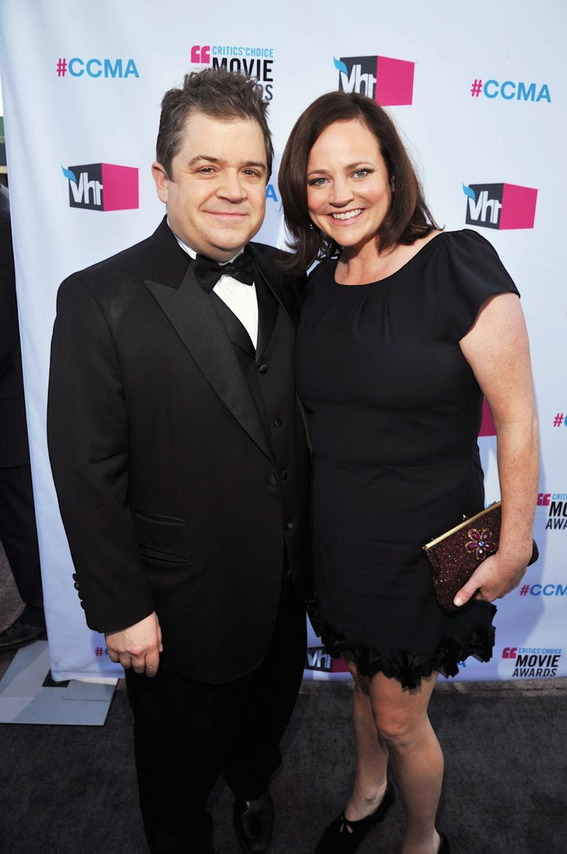 Patton Oswalt and Michelle McNamara, pictured in 2012, married in 2005. (Photo: Lester Cohen/WireImage)