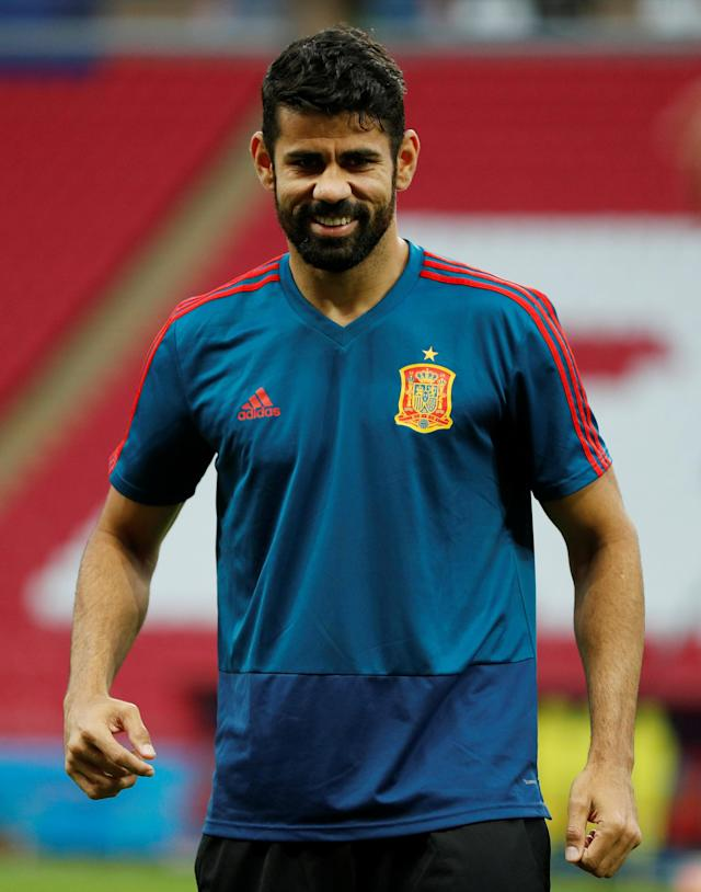 Soccer Football - World Cup - Spain Training - Kazan Arena, Kazan, Russia - June 19, 2018 Spain's Diego Costa during training REUTERS/John Sibley