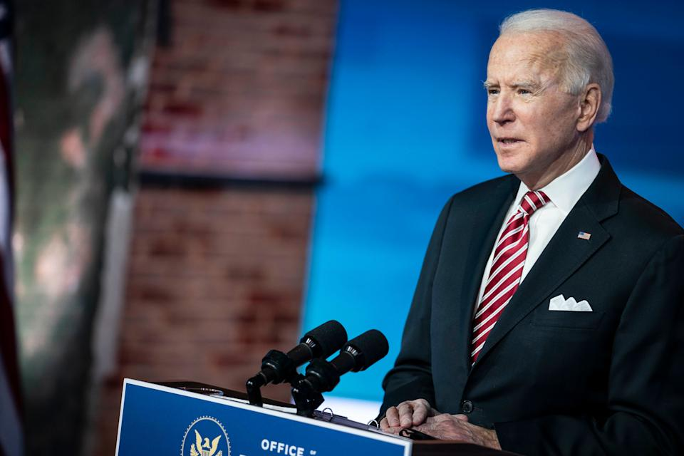 "President-elect Joe Biden said, ""I've spent most of my career arguing against the imperial presidency."" (Photo: Sarah Silbiger for The Washington Post via Getty Images)"