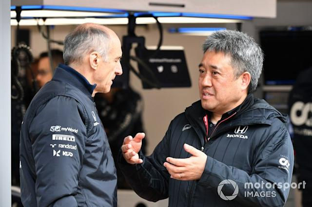 "Franz Tost, director de AlphaTauri y Masashi Yamamoto, General Manager de Honda Motorsport <span class=""copyright"">Mark Sutton / Motorsport Images</span>"