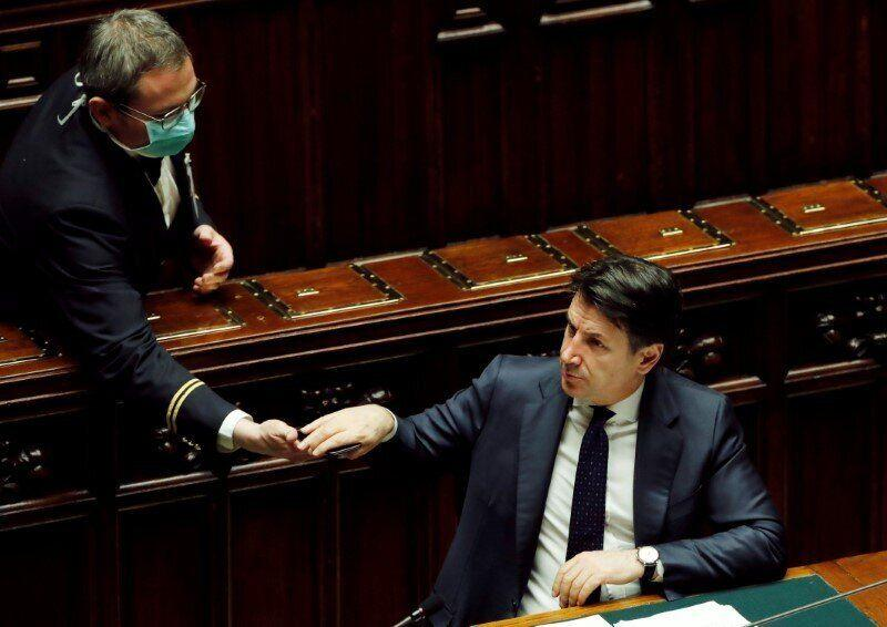 Italian Prime Minister Giuseppe Conte gives an update on the coronavirus outbreak in Italy (Photo: Reuters)