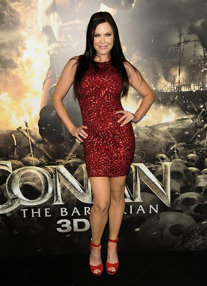 "<a href=""http://movies.yahoo.com/movie/contributor/1800211689"">Christa Campbell</a> at the Los Angeles premiere of <a href=""http://movies.yahoo.com/movie/1809953260/info"">Conan the Barbarian</a> on August 11, 2011."
