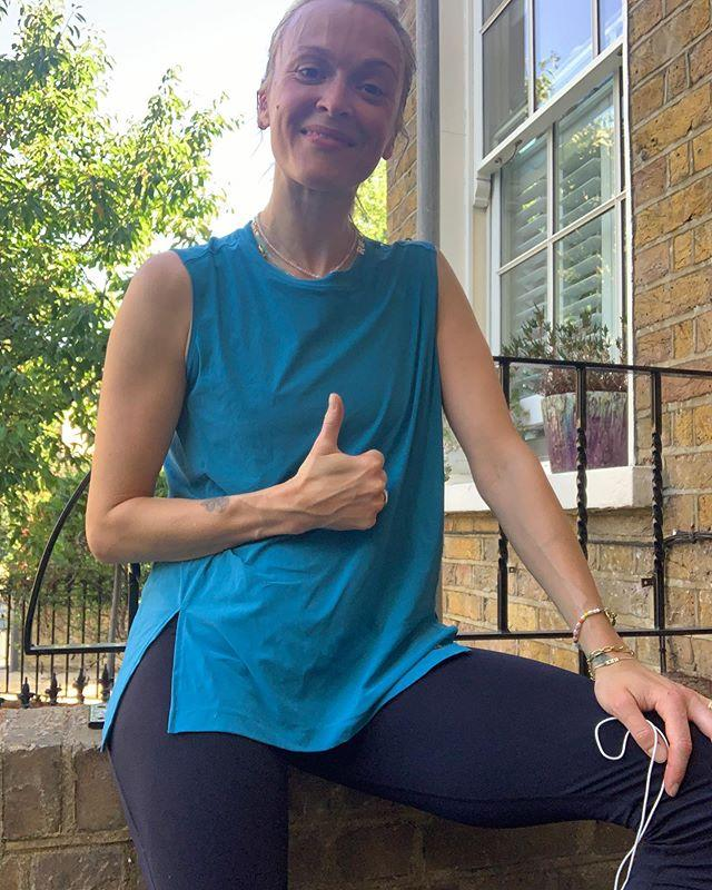 "<p>Dedicated yogi Fearne Cotton is often posting post-run selfies. The ex Radio 1 DJ ran the Bath Half for breast cancer charity Coppafeel in 2011, crossing the line in two hours.</p><p><a href=""https://www.instagram.com/p/CB2a20kjIh1/"">See the original post on Instagram</a></p>"