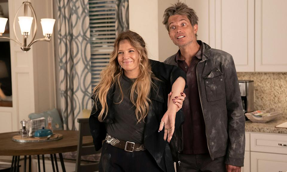 "The zom-com starring Drew Barrymore and Timothy Olyphant had a <a href=""https://www.yahoo.com/entertainment/santa-clarita-diet-fans-pound-161336126.html"" data-ylk=""slk:loyal fanbase;outcm:mb_qualified_link;_E:mb_qualified_link;ct:story;"" class=""link rapid-noclick-resp yahoo-link"">loyal fanbase</a> after its first season which only got bigger as the series got better and better as it went into seasons two and three. However, Netflix announced earlier this year that the show was not being brought back for a fourth season. To rub salt into the wound, the series ended on a cliffhanger, meaning that fans won't find out what writers might've had in mind next. Creator Victor Fresno previously revealed he had a total of <a href=""https://www.yahoo.com/lifestyle/netflix-cancelled-santa-clarita-diet-165411526.html"" data-ylk=""slk:five series in mind;outcm:mb_qualified_link;_E:mb_qualified_link;ct:story;"" class=""link rapid-noclick-resp yahoo-link"">five series in mind</a>. (Saeed Adyani/Netflix)"