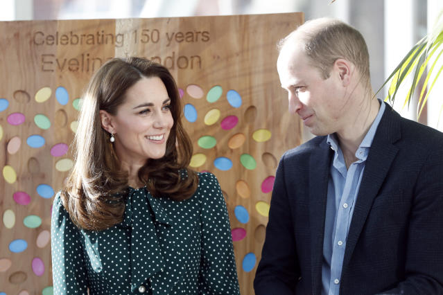 William and Kate at Evelina, which Tony is fundraising for. (Getty Images)