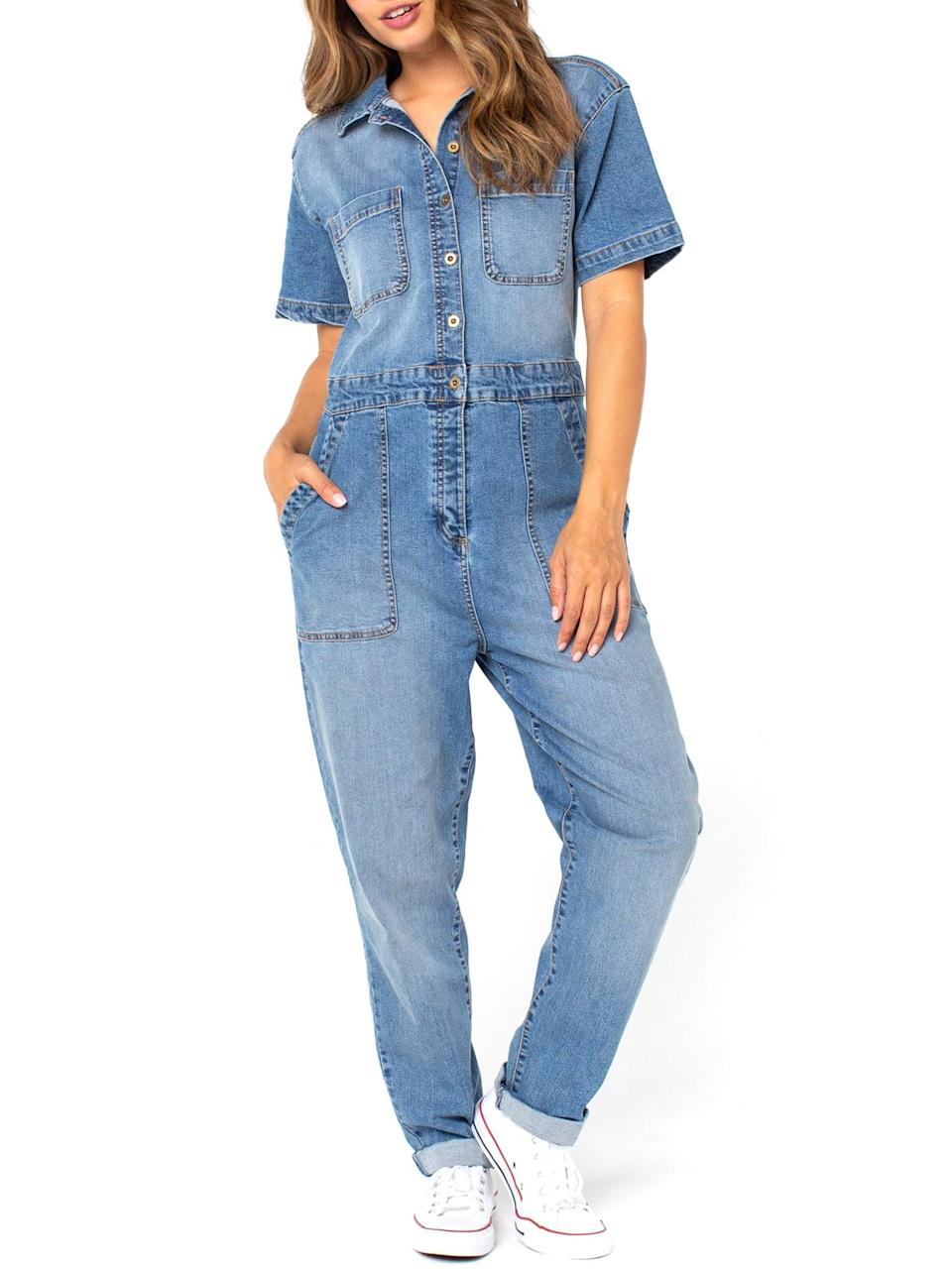 <p>Run, don't walk to place your order for this <span>Vintage Stretch Denim Boiler Suit</span> ($22), which can easily be dressed up or dressed down depending on the occasion. </p>