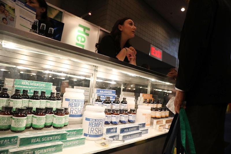 Budding entrepreneurs hope the cannabis sector will continue its path of rapid growth -- projected to reach $23 billion by 2020 (AFP Photo/SPENCER PLATT)
