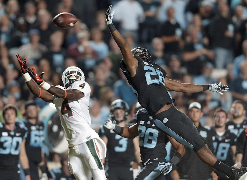 Dorsett (torn MCL) out 4-6 weeks for No. 10 Miami
