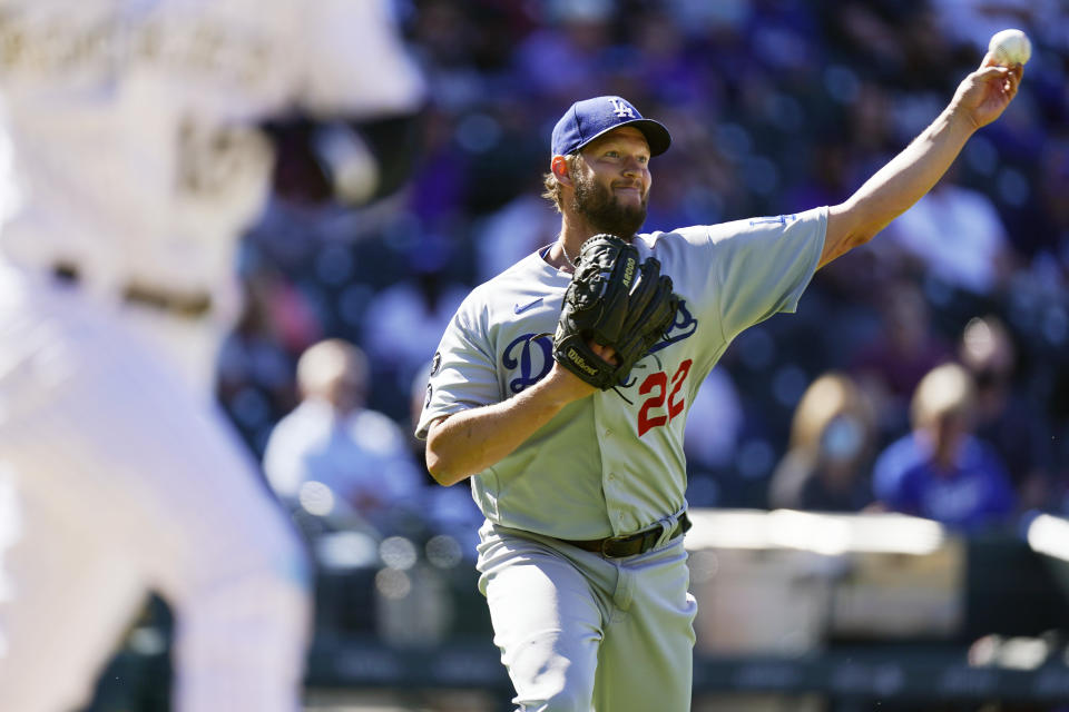 Los Angeles Dodgers starting pitcher Clayton Kershaw will try to slow down his team's slide. (AP Photo/David Zalubowski)
