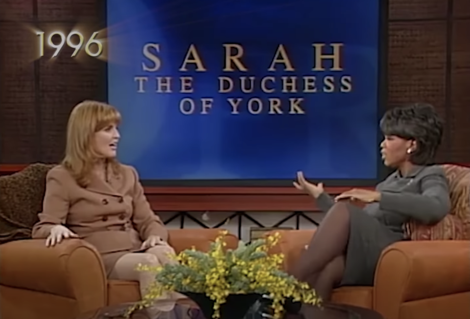 The Duchess of York appeared on Oprah in 1996. (OWN)