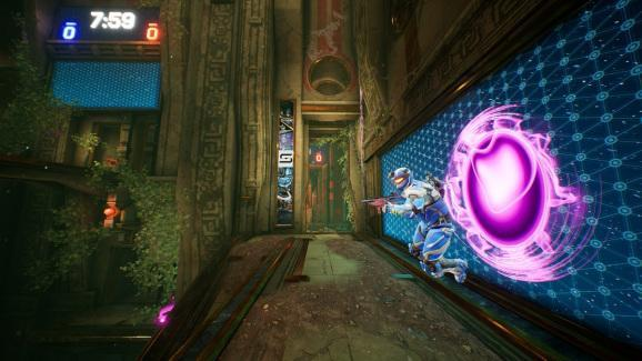 Splitgate uses portal mechanics in an arena shooter.