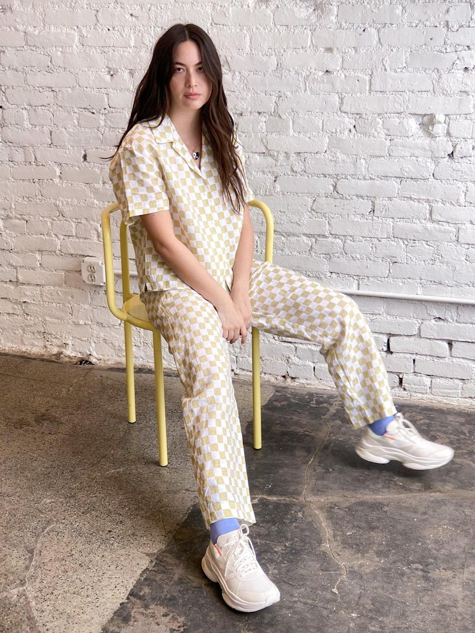 """<p>""""This <span>Holiday the Label Pyjama Pant Set in Cream Check</span> ($179) not only looks chic as heck but is so darn cozy. I'm always looking for fresh ways to update my pajama drawer."""" - NC</p>"""