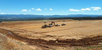 TWSF earthworks – final contouring before lining (CNW Group/eCobalt Solutions Inc.)
