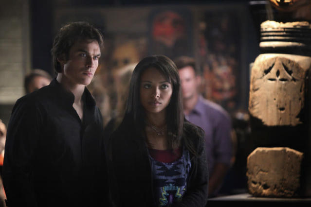 "Ian Somerhalder as Damon and Kat Graham as Bonnie in ""We All Go a Little Mad Sometimes,"" the sixth episode of ""The Vampire Diaries"" Season 4."