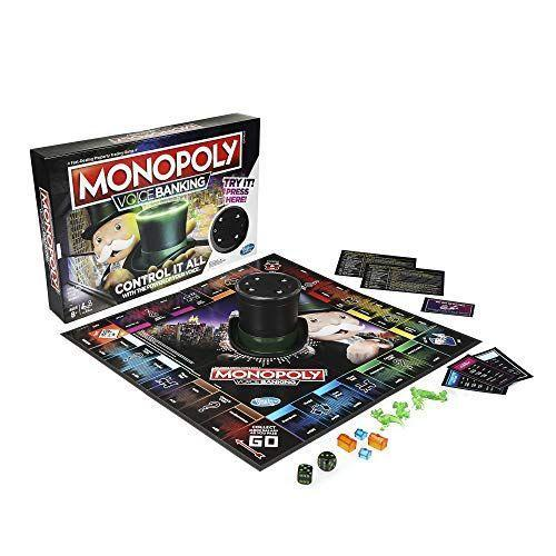 """<p><strong>Monopoly</strong></p><p>amazon.com</p><p><strong>$19.95</strong></p><p><a href=""""https://www.amazon.com/dp/B07MTSTYRL?tag=syn-yahoo-20&ascsubtag=%5Bartid%7C10055.g.32475624%5Bsrc%7Cyahoo-us"""" rel=""""nofollow noopener"""" target=""""_blank"""" data-ylk=""""slk:Shop Now"""" class=""""link rapid-noclick-resp"""">Shop Now</a></p><p>Mr. Monopoly's hat doubles as a speaker to track players' bank accounts and properties. All you have to do is roll the dice, press your token's button and say """"Buy Park Place."""" Testers loved that this was a faster-moving version of the original that also prevented cheating. Caveat: It didn't always recognize commands right away. <em>Ages 8+</em>.</p>"""