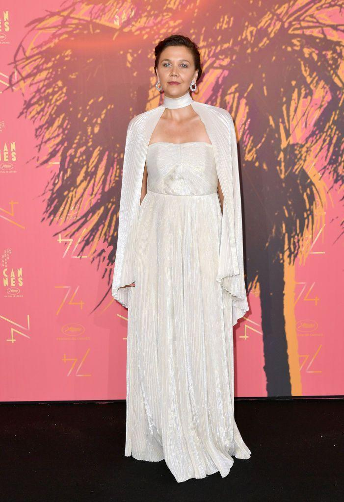 <p>Gyllenhaal referenced the 1930s in a caped Celine dress. </p>