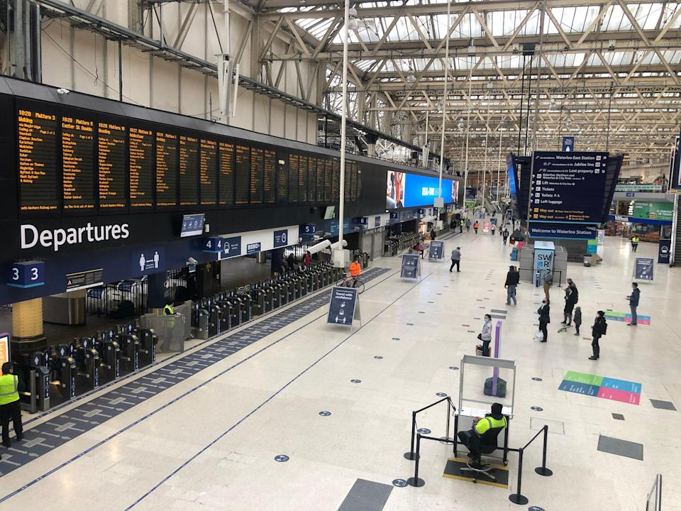 Missing persons: Waterloo station, normally the busiest transport terminal in Europe (Simon Calder)