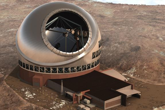 Construction of Giant Telescope Pushes on Despite Protests